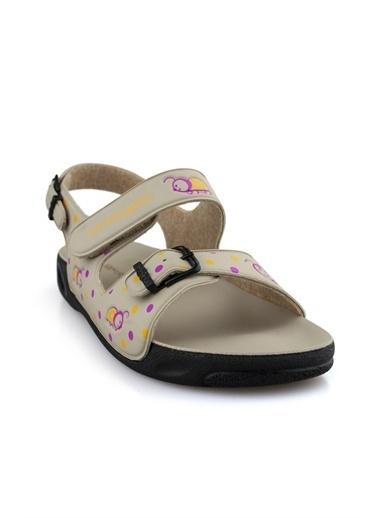 Ceyo Kız Çocuk Sandalet Bej